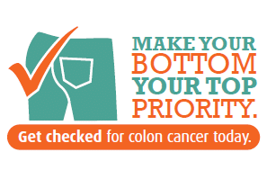 colon cancer awareness message to getting checked a priority