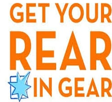 Get Your Rear In Gear 5k event logo SanAntonio