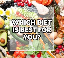 digestive health dietary image with a variety of proteins and vegetables
