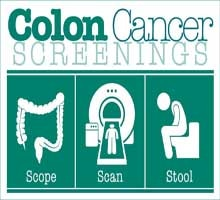 colon cancer home tests versus colonoscopy exam awareness message