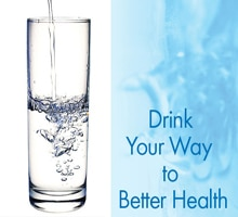drink water for better digestive health with glass of drinking water
