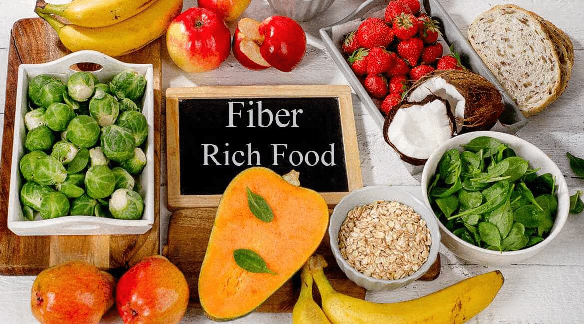 foods rich in fiber examples like veggies and whole grains